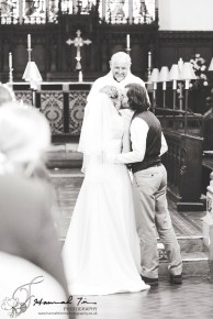 Bride & Groom kiss