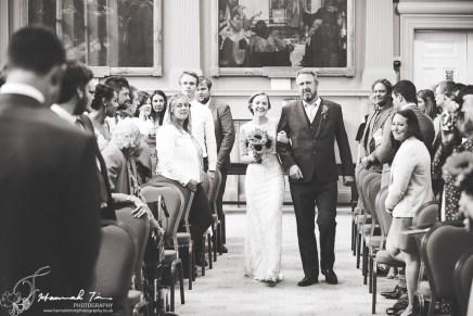 Bride & Father walk down the aisle
