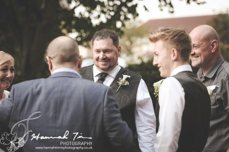 Groom with friends