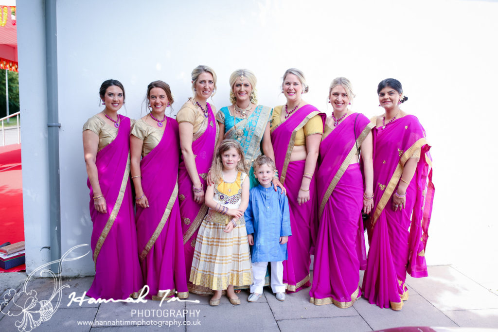 Hindu bridal party
