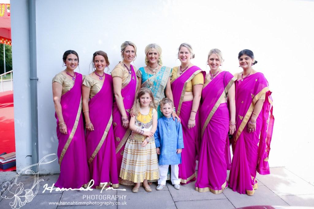Hindu bridal party