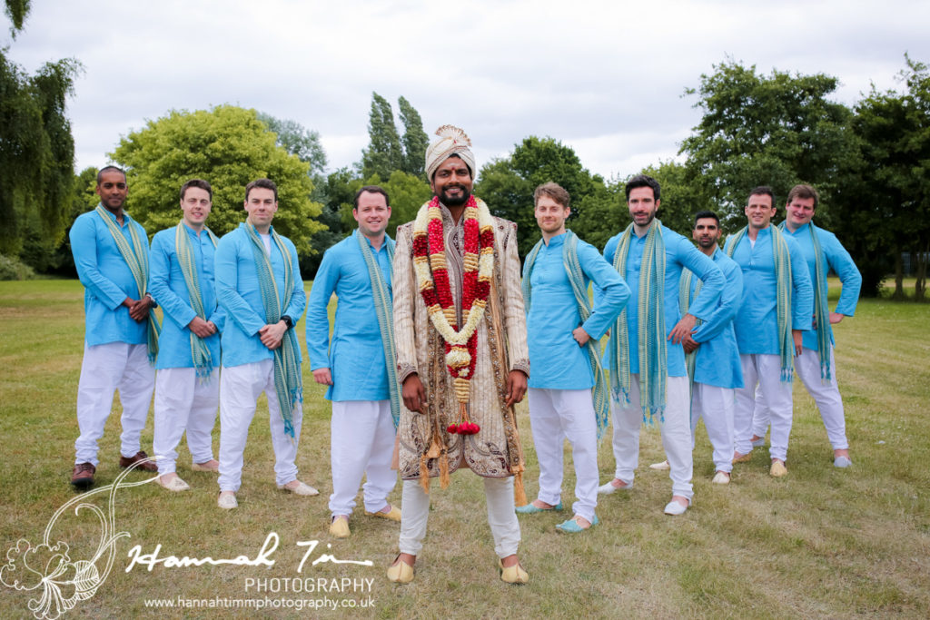 Asian Groom & Groomsmen