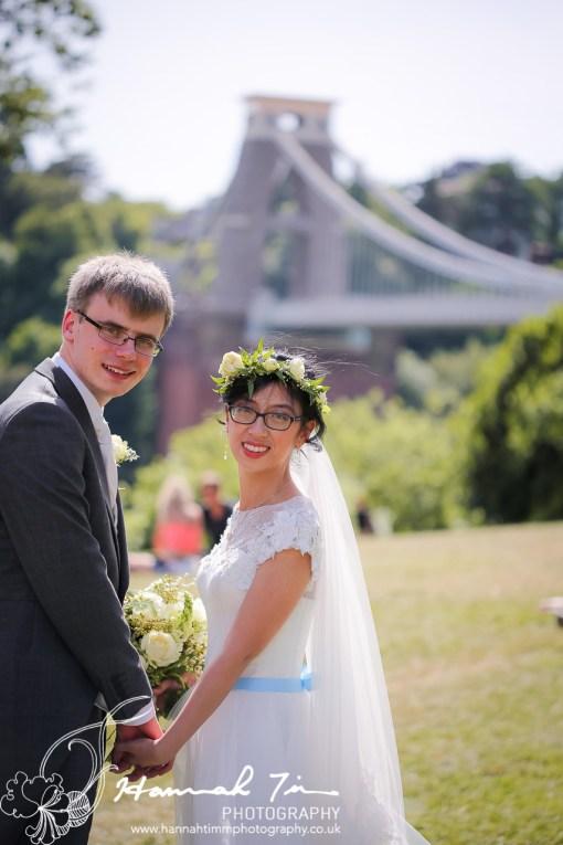 Clifton suspension bridge wedding