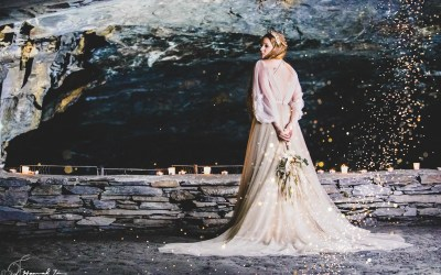 Carnglaze caverns wedding photography cornwall