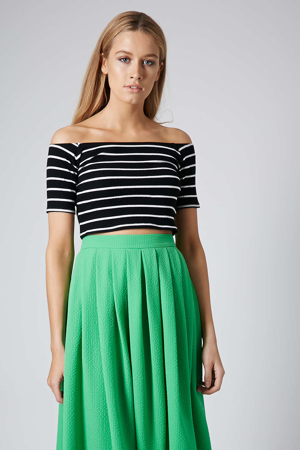Ribbed Bardot top, Topshop, £12