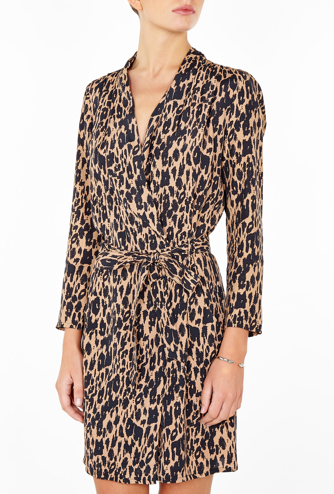 Ganni Leopard wrap dress, was £125, Now £75