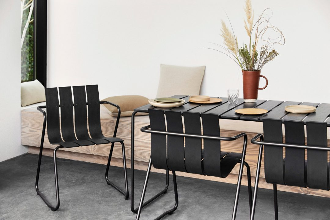 Design classics relaunched - the Ocean collection, garden furniture made from ocean waste.