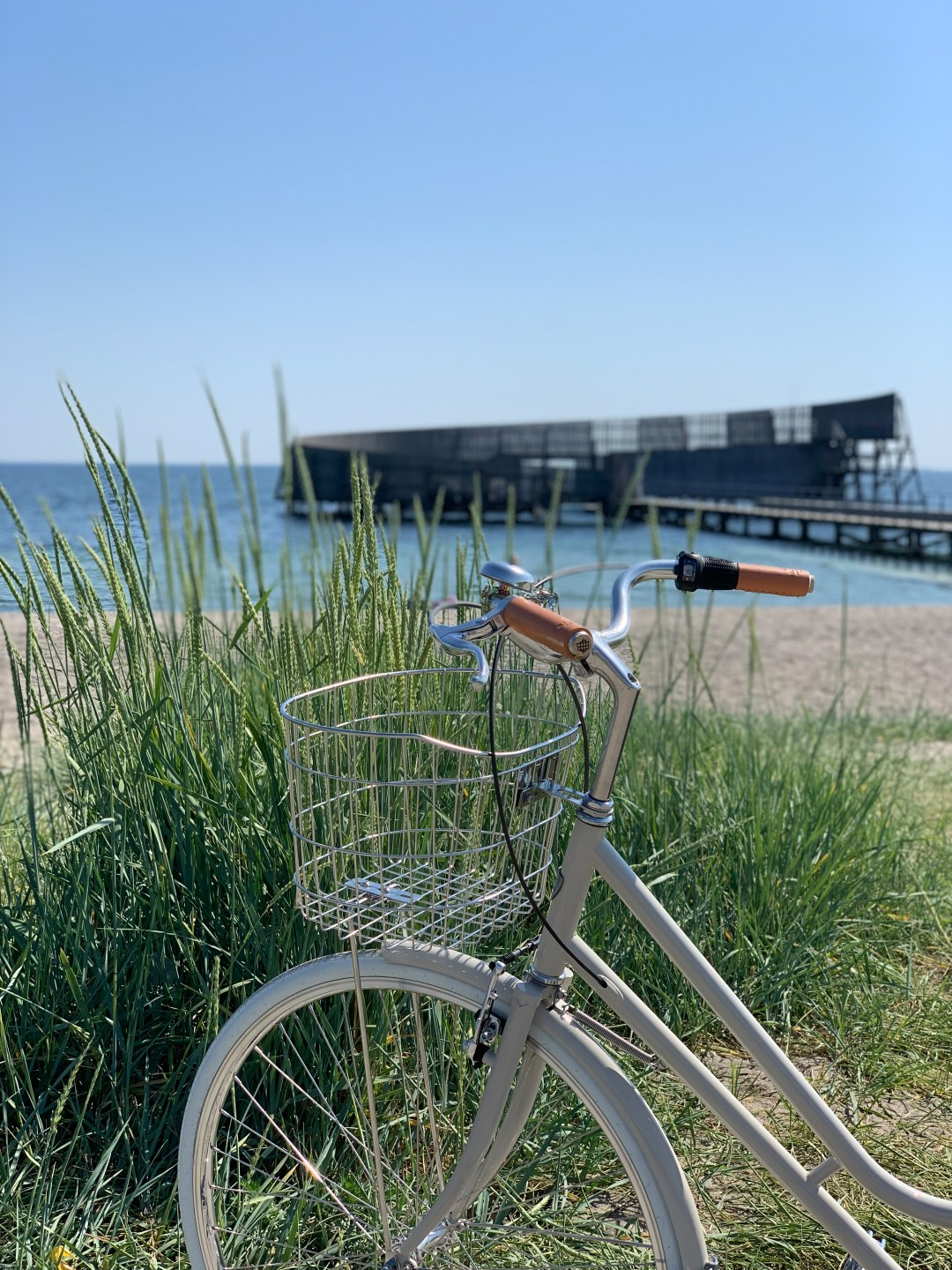 Cycling to the Danish beach in Kastrup