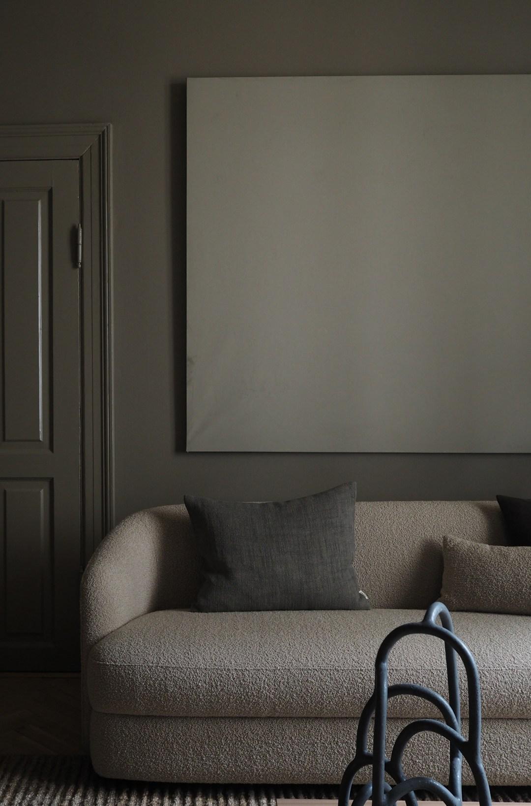 minimalist dark living room