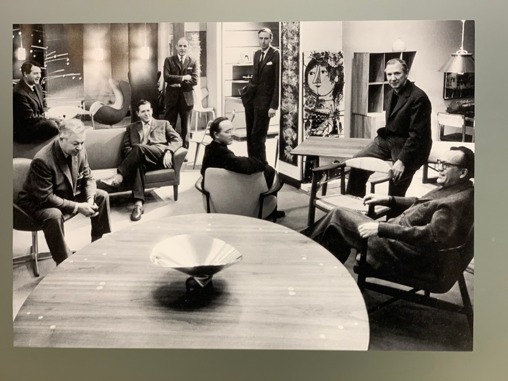 Danish designers of the 1950's. Jacobsen, Wegner, Juhl, Hvidt and Mølgaard