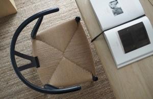Hans J.Wegner's CH24 Wishbone chair goes blue for his 106th birthday