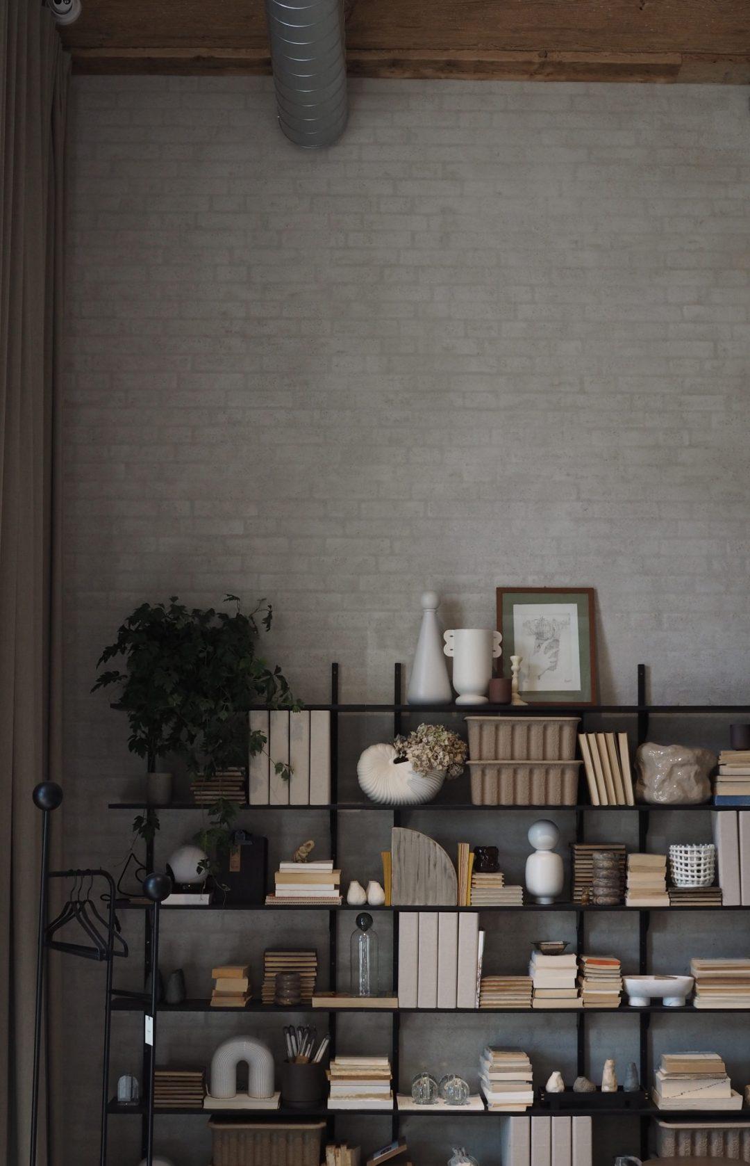 Ferm living shelf styling.