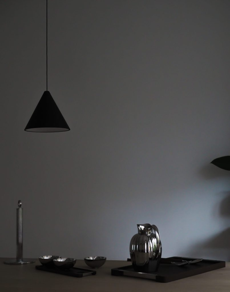 Dark and moody scandi styling - Georg Jensen Bernadotte