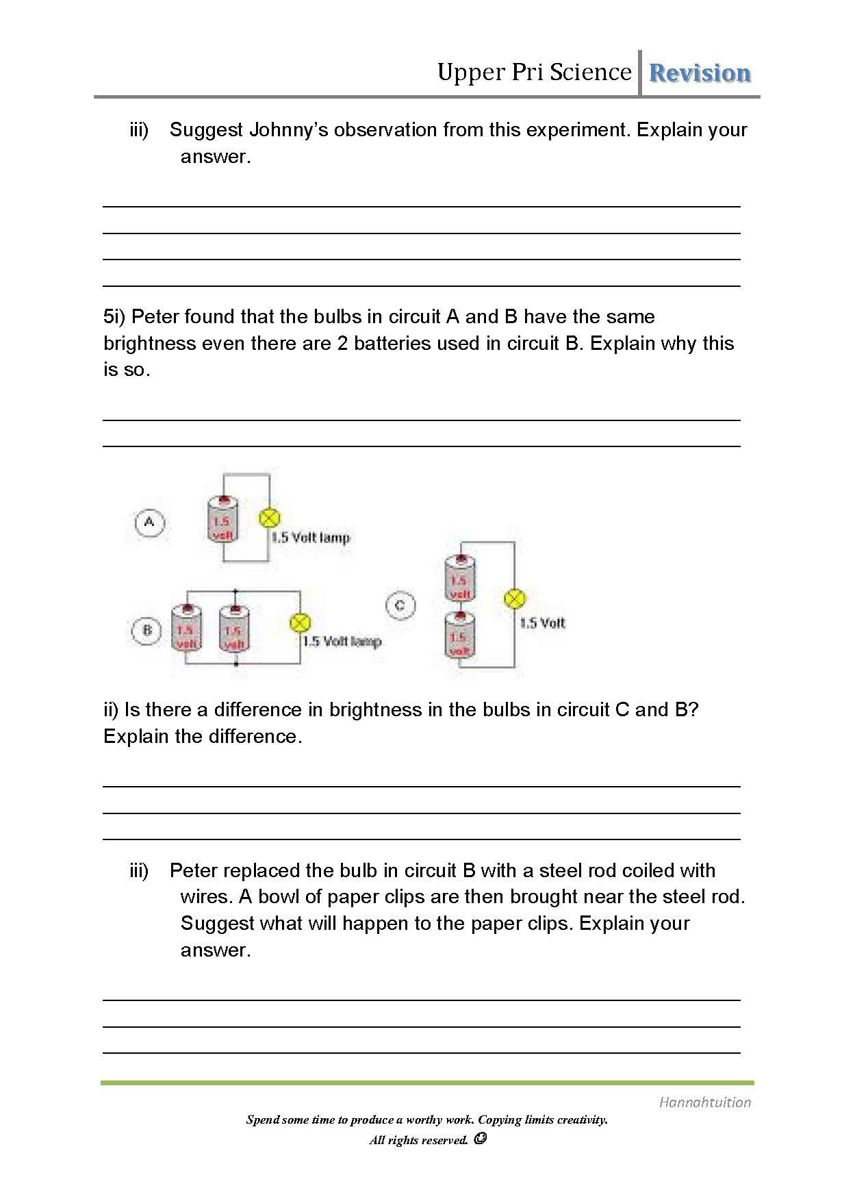 Worksheets Magnets Worksheets Waytoohuman Free