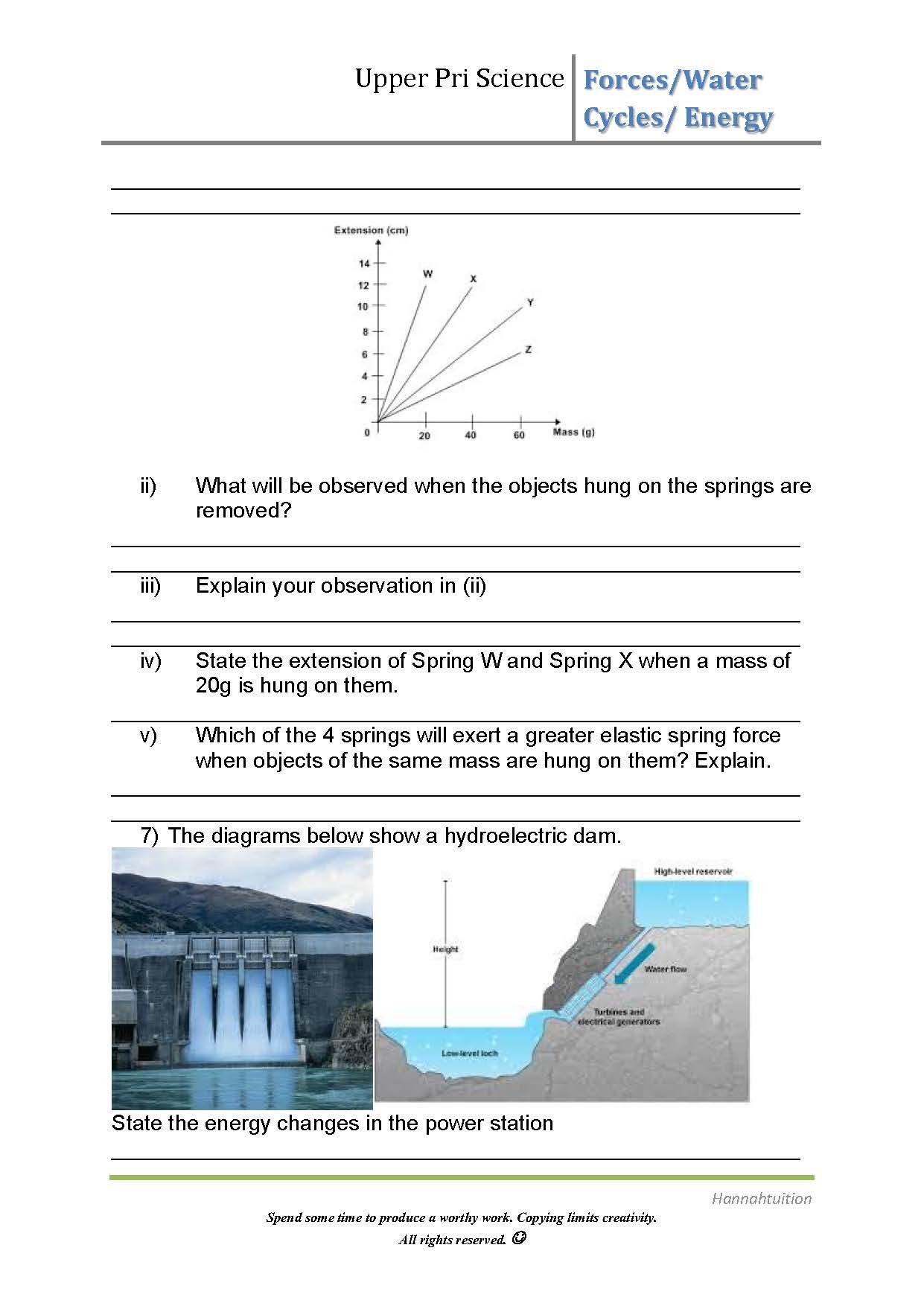 Worksheet Changing Water