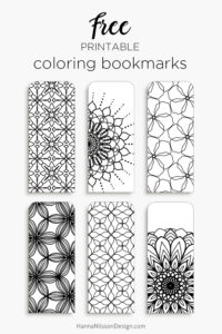 Coloring Bookmarks Print Color And Read Hanna Nilsson Design
