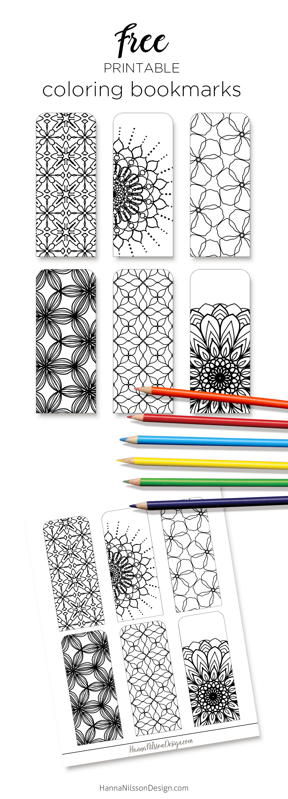graphic regarding Printable Bookmarks to Color known as Coloring bookmarks print, colour and examine Hanna Nilsson