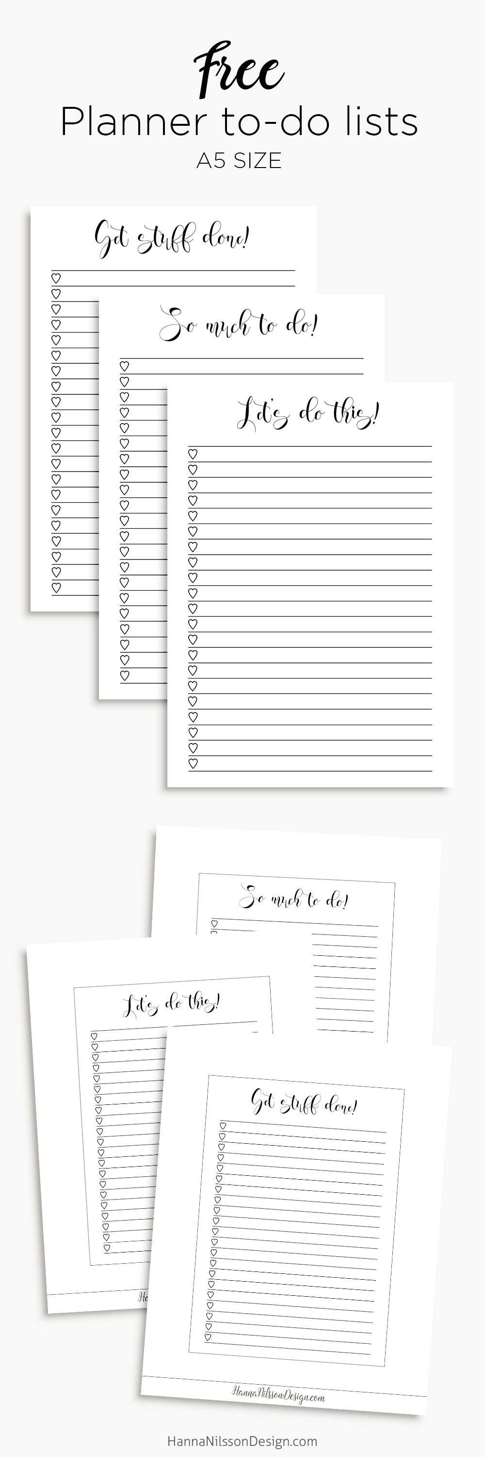 photograph regarding Printable Lists named Planner toward-do lists printable in just A5 and Individual dimension