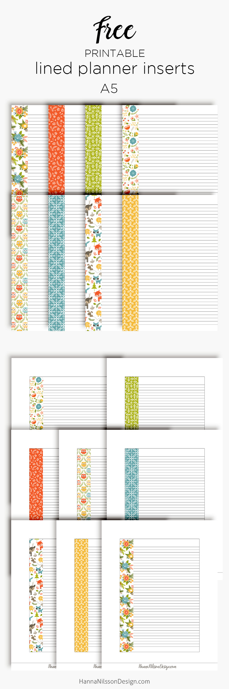 picture about Free Planner Inserts known as Covered planner inserts Satisfied Planner + A5 Person measurement