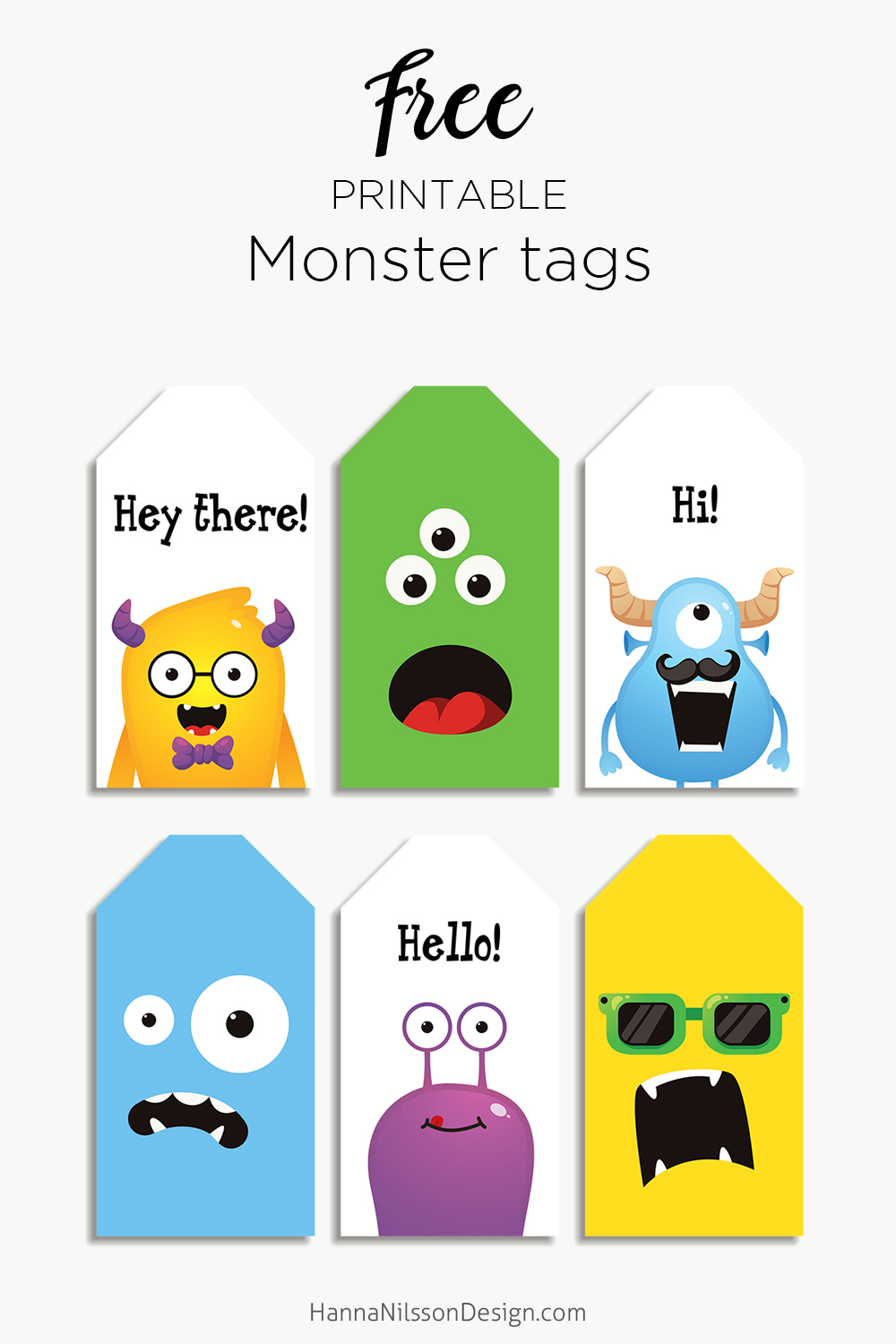 photo regarding Printable Monster referred to as Free of charge printable Monster tags Hanna Nilsson Layout