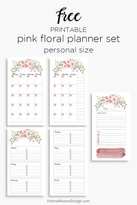 Blue Floral Planner Calendar A5 And Personal Planner Inserts