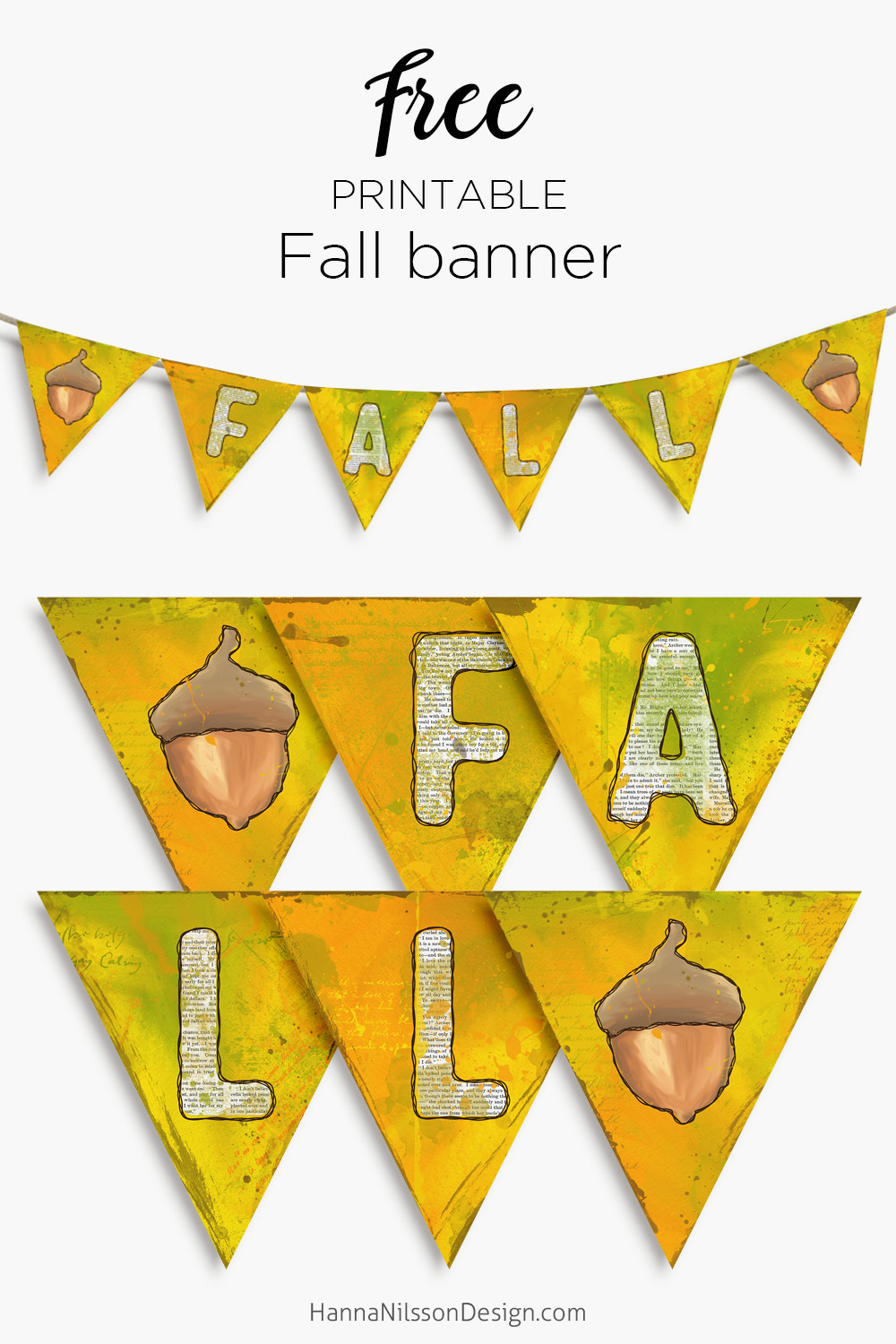 picture relating to Fall Banner Printable identify Drop banner cost-free printable dwelling decor Hanna Nilsson Style