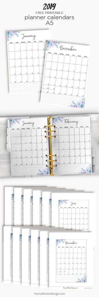 Free Yearly Calendar Hanna Nilsson Design
