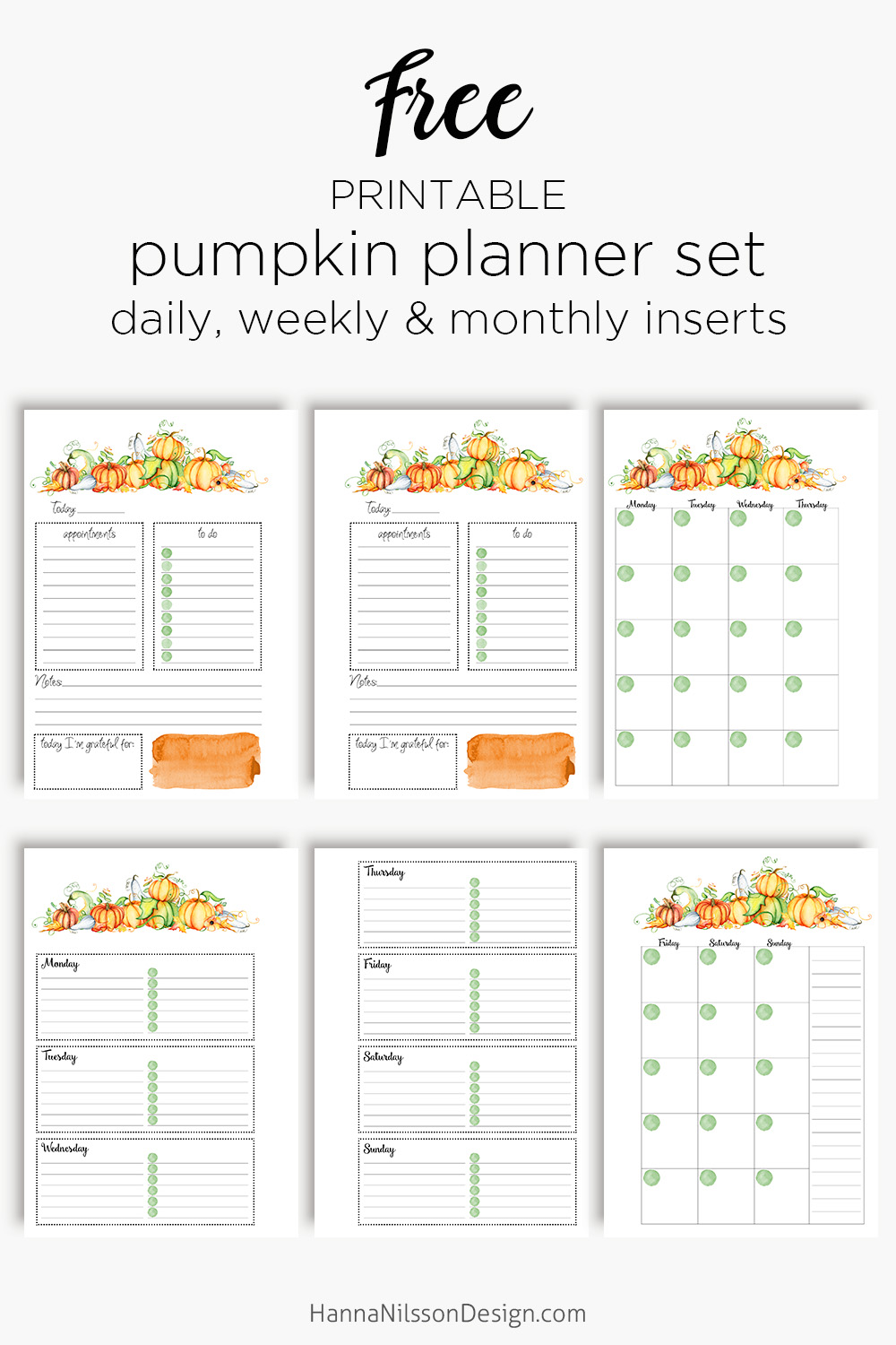 graphic about Printable Planner Inserts named No cost printable tumble planner inserts with attractive pumpkins
