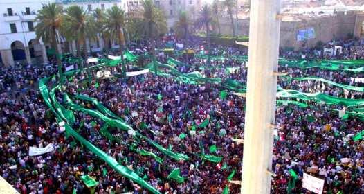 Million march Tripoli for Gaddafi 2011
