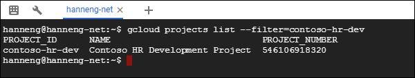 Google Cloud Platform list project