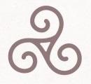 Keltisches Symbol Triskele