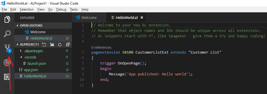 vscode untracked changes