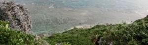 Ocean shore in Okinawa Japan