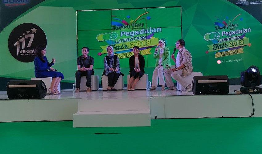acara pegadaian-literation-fair 2018 summarecon mol bekasi