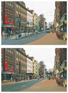 Hochbahnsteig und Niederflurbord im Vergleich an der Haltestelle Leinaustraße