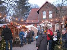 Weihnachtsdorf im Turm Biergarten