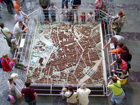 Stadtmodell von Hannover vor dem zweiten Weltkrieg