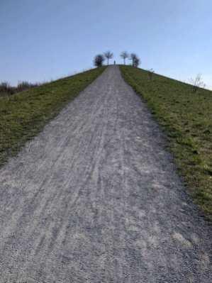 Steiler Aufstieg auf den höchsen Punkt in Bemerode