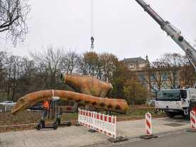 Seismosaurus noch in Einzelteilen