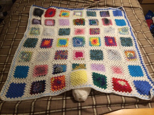 Blueberry's first blanket