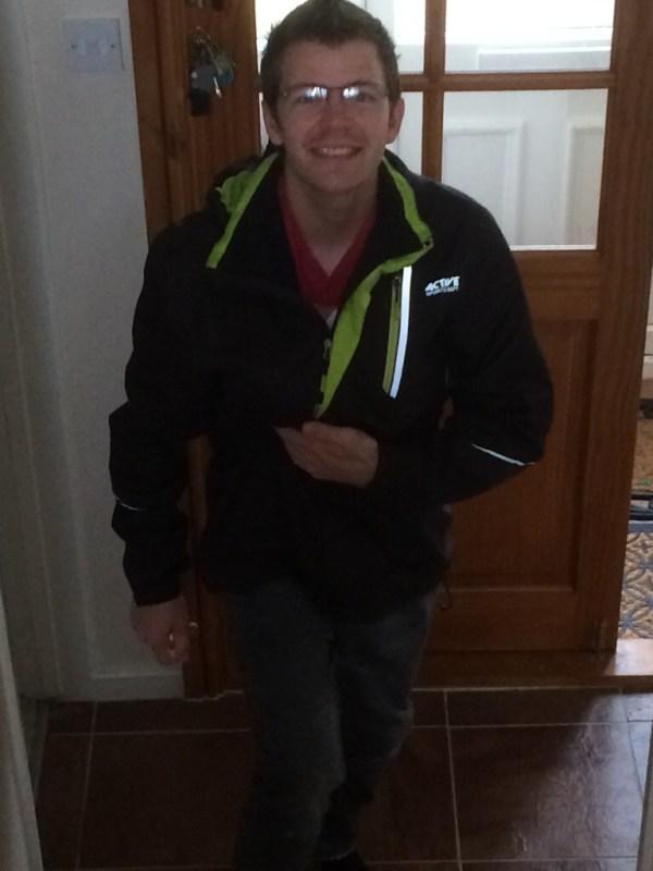 Chris taking Jaxon to the shop