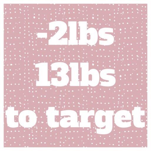 -2lbs. 13lbs to target