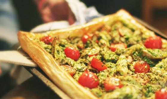 Chicken and Pesto Tart