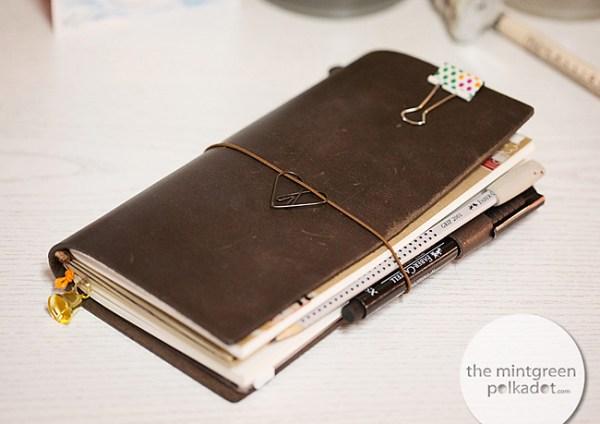 The Mint Green Polka Dot Midori Notebook