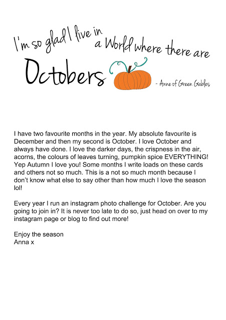 Brimbles Box - Postcard - October