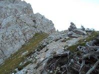 Einstieg oberhalb der Holzer Wies