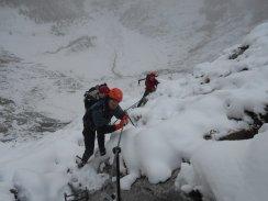 Winterlicher Klettersteig