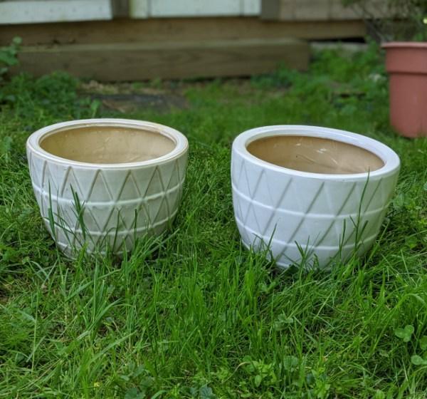 photo: two ceramic pots