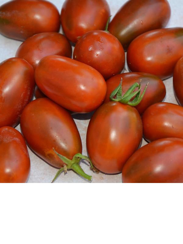 photo: reddish-brown grape tomatoes