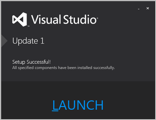 Visual Studio 2012 Update 1